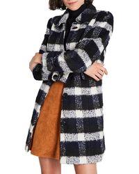 ModCloth Ladylike Lately Plaid Coat - Black