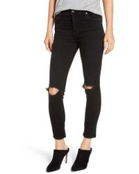 Citizens of Humanity - Rocket High Waist Ripped Ankle Skinny Jeans - Lyst