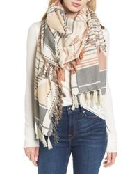 Frye - Diamond Jacquard Cotton Scarf - Lyst