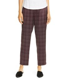 Eileen Fisher Tapered Pants - Multicolor