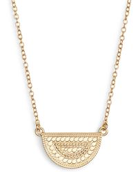 Anna Beck - Beaded Reversible Half-moon Necklace - Lyst