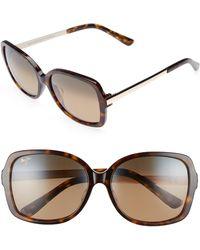 Maui Jim - Melika 58mm Polarized Square Sunglasses - Dark Tortoise Gold/ Bronze - Lyst