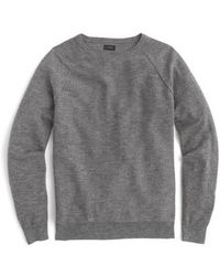 J.Crew - J.crew Slim Rugged Cotton Sweater - Lyst
