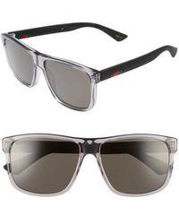 4795014565 Gucci - 58mm Polarized Sunglasses - Transparent Grey W  Grey Plr - Lyst