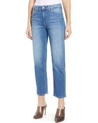 PAIGE - Vintage Noella High Waist Straight Leg Jeans - Lyst