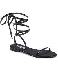 Steve Madden Avielle Lace-up Sandal - Black
