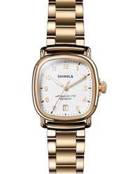 Shinola 36mm The Guardian Chronograph Bracelet Watch, Two-tone - Metallic