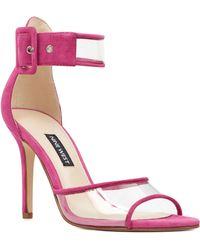Nine West Mila Vinyl Dress Sandals - Pink