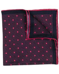 Hook + Albert - Dot Silk Pocket Square - Lyst