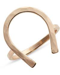 Nashelle Horseshoe Ring - Metallic