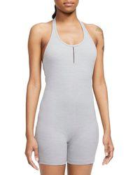 Nike Yoga Luxe Dri-fit Halter Romper - Gray