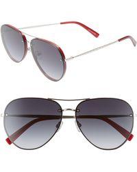 Rebecca Minkoff Gloria2 59mm Aviator Sunglasses - Metallic