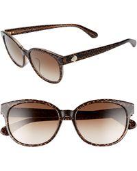 Kate Spade - Emaleigh 55mm Cat Eye Sunglasses - Lyst