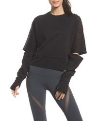 Alo Yoga | Cutout Sleeve Pullover Top | Lyst