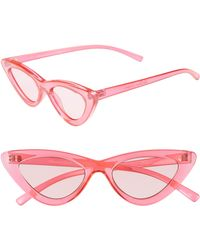 Le Specs - Lolita 49mm Cat Eye Sunglasses - - Lyst