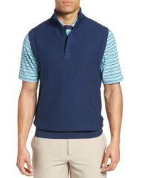 Bobby Jones - Pique Jersey Quarter Zip Golf Vest - Lyst