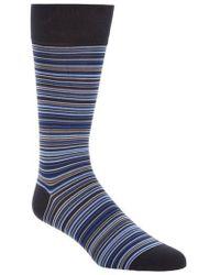 Cole Haan - Multistripe Crew Socks - Lyst