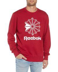 Reebok - Classic Big Starcrest Logo Sweatshirt - Lyst