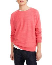 J.Crew | J.crew Slim Rugged Cotton Sweater | Lyst