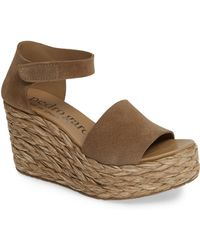 37042e47422 Lyst - Pedro Garcia  Tenley  Ankle Strap Platform Wedge Sandal in Purple