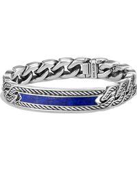 David Yurman 'maritime' Curb Link Id Bracelet - Metallic