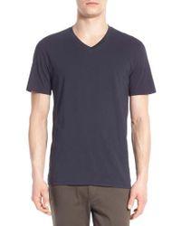 Vince - Pima Cotton V-neck T-shirt - Lyst