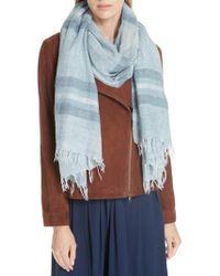 Eileen Fisher - Stripe Wool Blend Scarf - Lyst