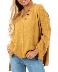 Rip Curl Easy Going Sweater - Yellow