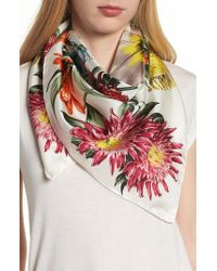 Echo - Blooms Of Oceania Square Silk Scarf - Lyst