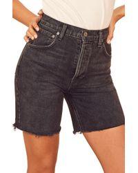 Reformation Allie Cutoff Denim Shorts - Multicolor