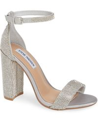 29f28597e2e Steve Madden Illie Knotted Lace Sandal in Metallic - Lyst