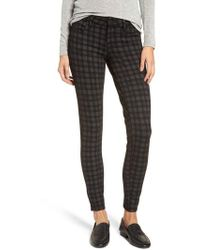 Kut From The Kloth - Diana Plaid Skinny Ponte Pants - Lyst