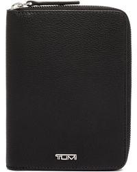 Tumi Belden Leather Zip Passport Case - Black