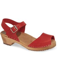 7ec3ddacf00 Lyst - Mia Anja Wooden-platform Sandals in Blue
