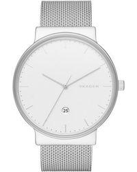 Skagen - Skw6108 Men's Ancher Mesh Bracelet Strap Watch - Lyst