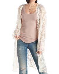 Sole Society - Long Lace Kimono - Lyst