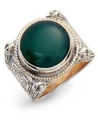 Konstantino - Green Agate Ring - Lyst