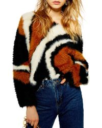 TOPSHOP - Rock N Roll Fluffy Sweater - Lyst