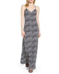 MICHAEL Michael Kors - Wavy Leopard Print Tank Maxi Dress - Lyst