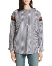 Kule - The Wallis Stripe Cotton Shirt - Lyst