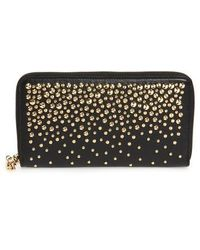 Alexander McQueen - Studded Leather Continental Wallet - Lyst