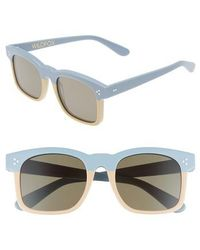 Wildfox - Gaudy Zero 51mm Flat Square Sunglasses - - Lyst