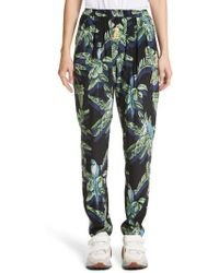 Stella McCartney - Birds Of Paradise Silk Crepe De Chine Pants - Lyst