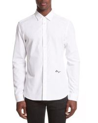 KENZO - Slim Fit Embroidered Shirt - Lyst