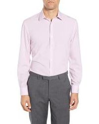W.r.k. - Trim Fit Performance Stretch Check Dress Shirt - Lyst