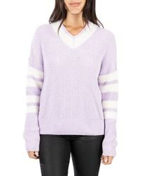 Kut From The Kloth Madia V-neck Sweater - Purple