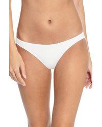 Robin Piccone Ava Bikini Bottoms - White