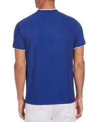 Original Penguin Psycho Bunny Terry Geo Jacquard T-shirt - Blue