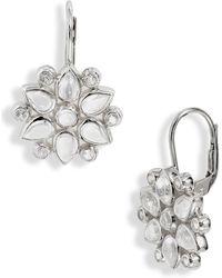 Anzie - Fleur Moonstone & Sapphire Earrings - Lyst