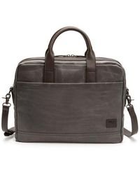Frye - Carter Slim Briefcase - Metallic - Lyst